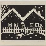 06.P Z cyklu Zima, 50. léta 20. století, BM (dřevořez, ruční tisk kostkou)